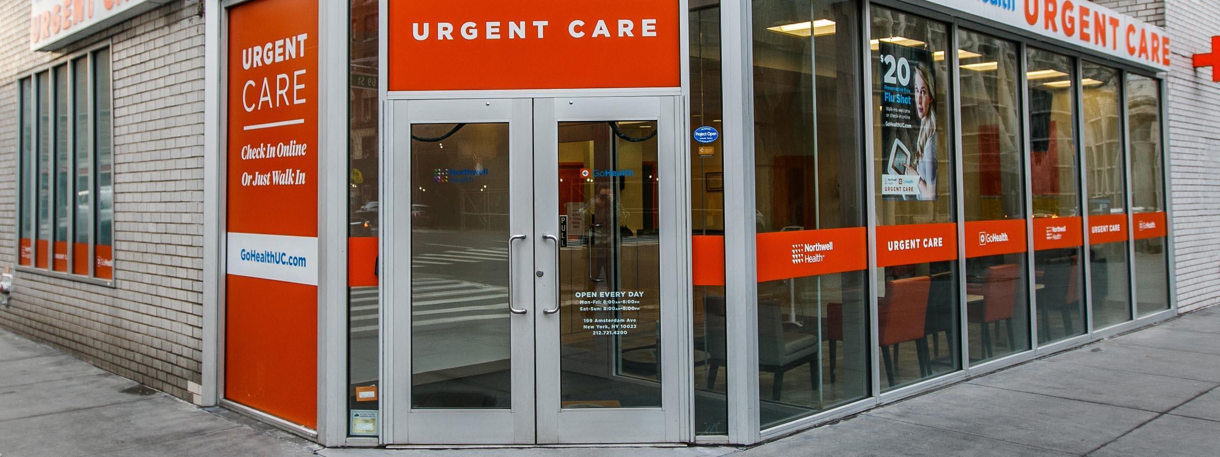 Urgent care storefront.