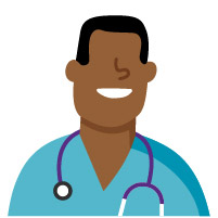 Male nurse practitioner African American