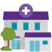small nursing home purple roof